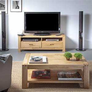 Table Basse Tv : ensemble table basse et meuble tv luminescence ~ Melissatoandfro.com Idées de Décoration