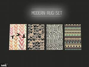 4 Rugs With Hipster Patterns At CallieV Plays Sims 4 Updates