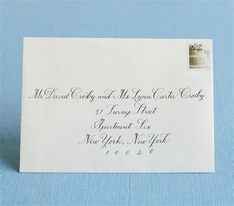 how to address an envelope to a family hyphenated last name how to address wedding invitations