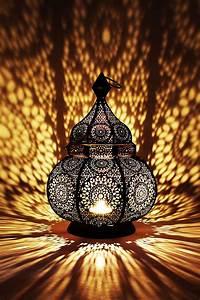 Moroccan, Vintage, Lantern, Lights, Lamp, Ziva, 30cm, Black, Large