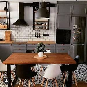 View, Dark, Grey, Kitchen, Walls, With, Oak, Cabinets, Pics