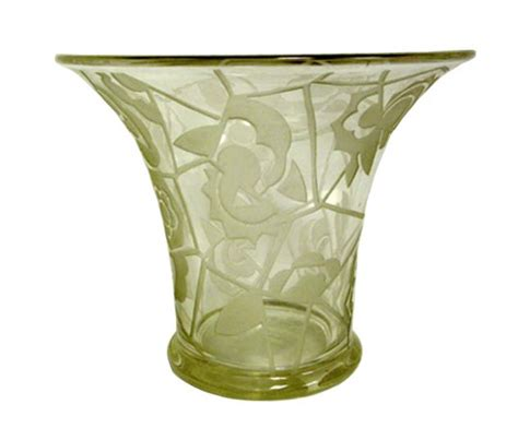 deco glass vase modernism
