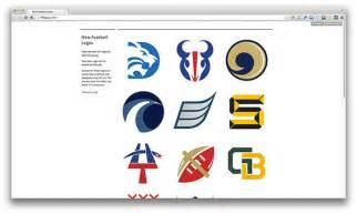 New NFL Football Logos