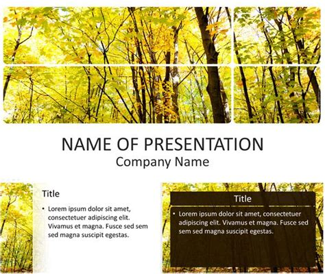template forest 17 best images about nature powerpoint templates on maple leaves tourism and forests
