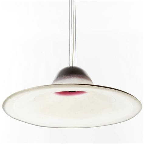 amethyst murano glass pendant light by alfredo barbini