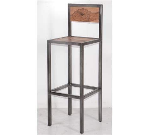 meubles de cuisine haut tabouret de bar industriel en métal et bois 39 industry quot 6748