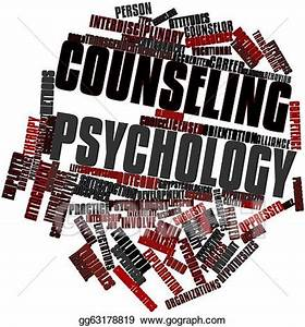 Stock Illustration - Word cloud for counseling psychology ...