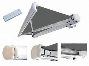 Lambrequin Store Banne : store banne avec lambrequin enrouleur 3 x 2 m gris uni ~ Melissatoandfro.com Idées de Décoration
