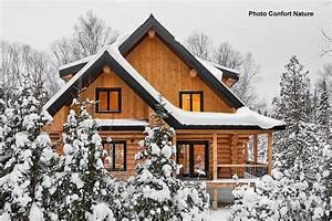 bois massif bois rond ou pieces sur pieces maisons usinees With maison en bois quebec