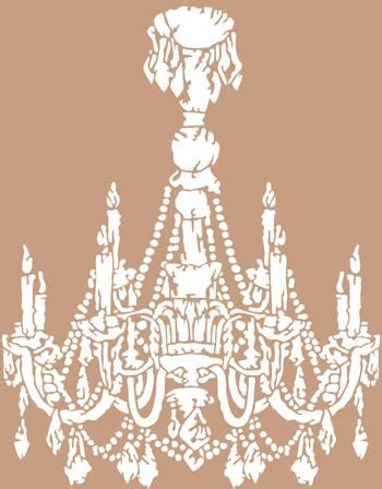 Chandelier Stencils by For Chandelier Stencil Stenciling Vinyl Wall
