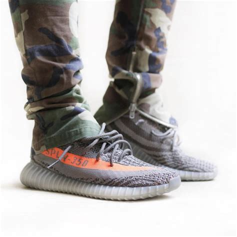 Dope shot of the BELUGA Yeezy Boost 350 V2 on-foot - Releasing this weekend at MANY retailers ...