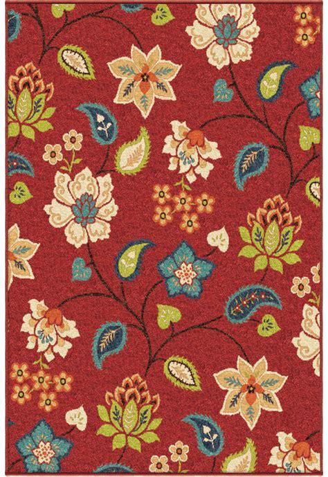 red vines petals paisley outdoor contemporary area rug floral  ebay