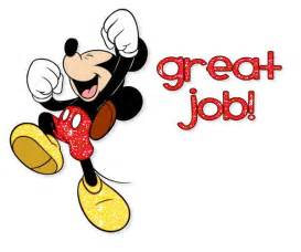 Mickey Mouse Great Job Clip Art