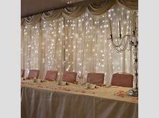 Lights behind head table Draping, Draping & more Draping