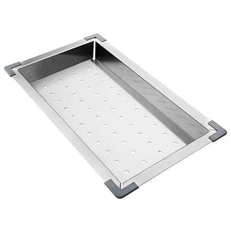 stainless steel kitchen sink protectors stainless steel kitchen sink colander rectangle 8267