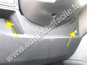 Obd2 Connector Location In Peugeot Bipper  2007 -