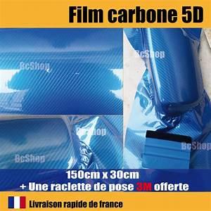 Covering Carbone 3m : film carbone 5d bleu covering brillant thermoformable raclette de pose 3m pro ebay ~ Voncanada.com Idées de Décoration