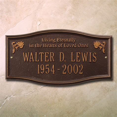 custom outdoor personalized memorial plaques