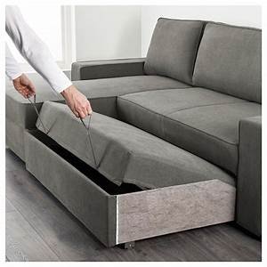 vilasund sofa bed with chaise longue borred grey green ikea With what is the best sofa bed to buy