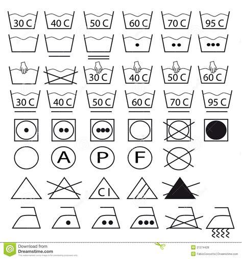 symbole sur etiquette linge ramassage de symboles pour les v 234 tements de lavage photos libres de droits image 21274428