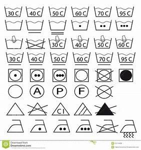 Symboles Lavage Vêtements : ramassage de symboles pour les v tements de lavage photos ~ Melissatoandfro.com Idées de Décoration
