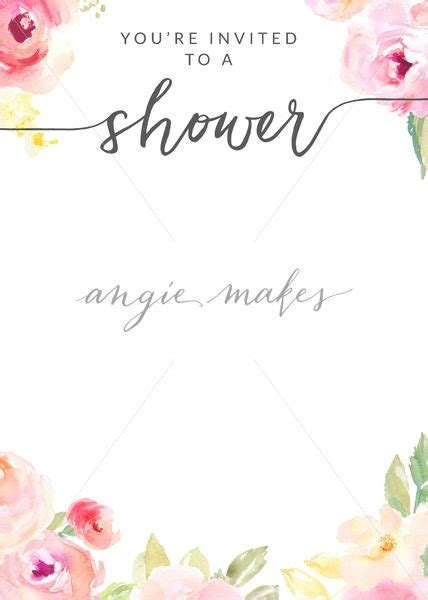 Download This Watercolor Flower Shower Invitation Template