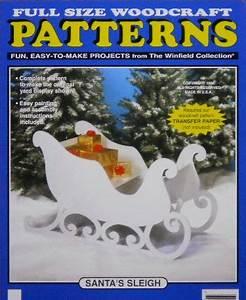 reindeer and sleigh wood patterns » plansdownload