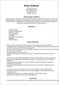 entry level automotive technician resume sles professional entry level mechanic resume templates to showcase your talent myperfectresume