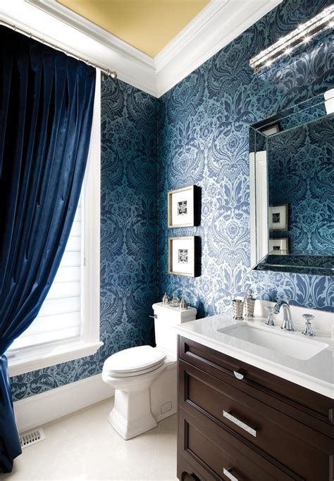 Designer Bathroom Wallpaper by Gorgeous Wallpaper Ideas For Your Modern Bathroom
