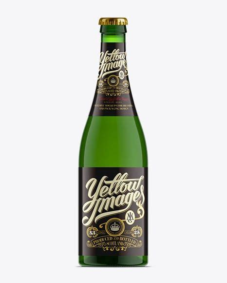 750ml antique green glass bottle with olive oil mockup 14213 tif. Download Psd Mockup 004777 750Ml 75Cl Ale Beer Beer Bottle ...