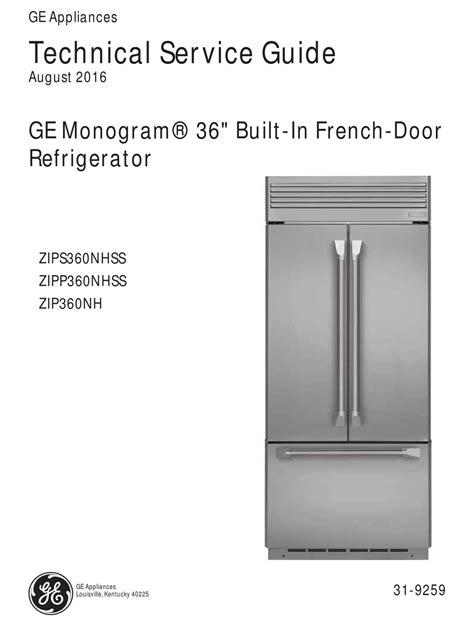 ge monogram fridge  cooling