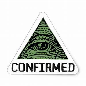 Illuminati Confirmed stings Triangle Sticker   Zazzle.com