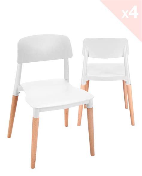 lot chaise napa lot de 4 chaises cuisine design piétement hêtre