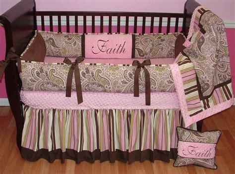 paisley baby bedding avery pink paisley crib set this custom baby crib bedding