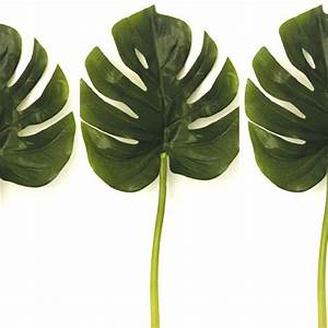 17cm Artificial Monstera Leaf Small - Swiss Cheese Plant