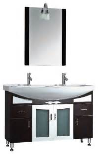 48 inch black cherry wood porcelain double bathroom