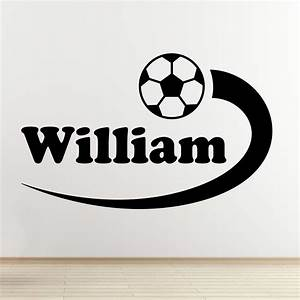 personalised boys name football wall decal sports themed With football wall decals