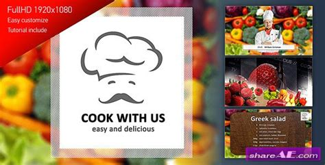 cook with us free template cooking 187 free after effects templates after effects