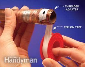 Stop Leaks In Plumbing Joints  Family Handyman