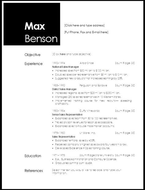 open office resume templates free free sles