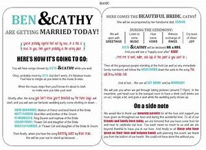wedding program free template