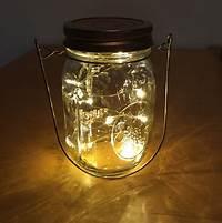 mason jar lantern Wire Hanger Firefly Lights with Mason Jar Rustic Wedding