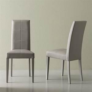 Stuhl Kunstleder Grau : moderner stuhl aus kunstleder grau linear ~ Indierocktalk.com Haus und Dekorationen