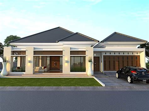 desain rumah minimalis type   lantai tampak depan