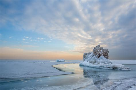 water, Lake, Ice, Snow, Cold, Landscape, Sky, Winter ...