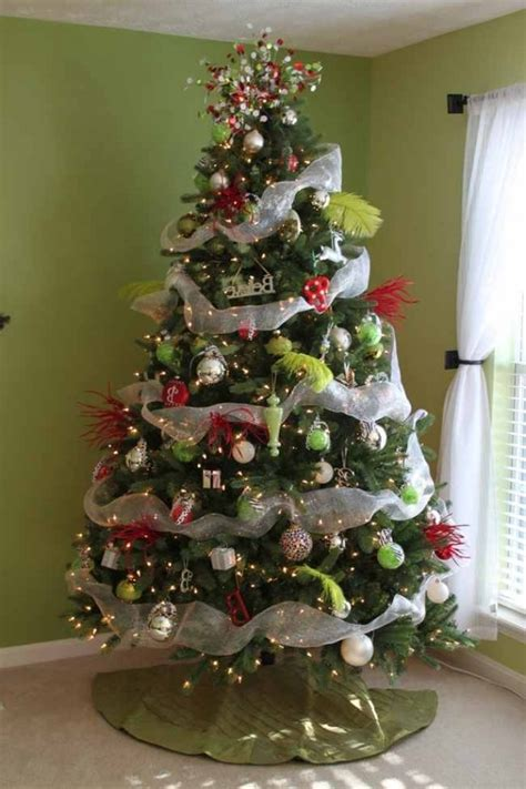 trees decorated with mesh ribbon designcorner