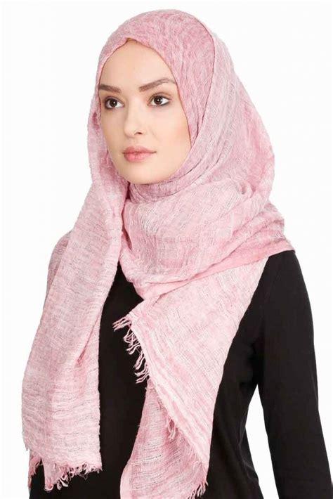 didem dusty pink crinkle chiffon hijab  sehr  sal