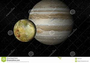 Io And Jupiter Stock Photo - Image: 42301611