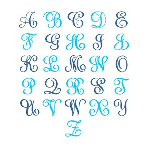 sydney monogram svg cuttable font