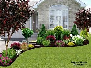 130 simple fresh and beautiful front yard landscaping With garden design front of house